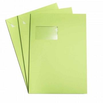 25 Versandtaschen Weiß DIN C4  120 g/m² - 229 x 324 mm 22,9 x 32,4 cm - selbstklebend mit Abziehstreifen - mit Fenster