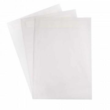 25 Versandtaschen  DIN C4 Zart Creme 120 g/m² - 229 x 324 mm 22,9 x 32,4 cm - selbstklebend mit Abziehstreifen - mit Fenster