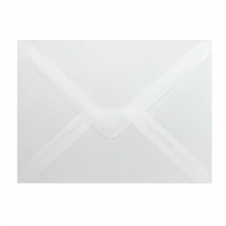 25 Briefumschläge C6 DIN (114-162 cm) - Transparent , Verschluss-Technik: Feuchtklebend ! Grammatur: 90 g/m²
