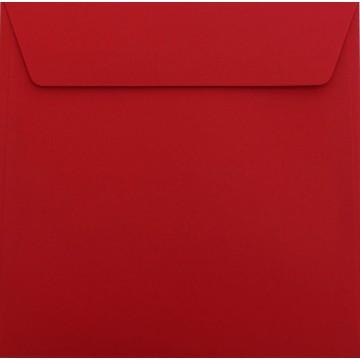 25 / Quadratisch/Briefumschläge / 18 x 18 cm / 180 x 180 mm Rosen Rot Verschluss: Kuverts mit Haftstreifen/Grammatur: 120 g/m²