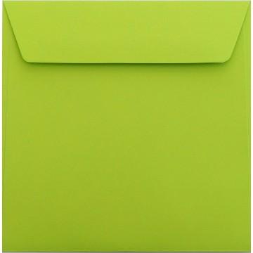 25 / Quadratisch/Briefumschläge / 18 x 18 cm / 180 x 180 mm Hell Grün Verschluss: Kuverts mit Haftstreifen/Grammatur: 120 g/m²
