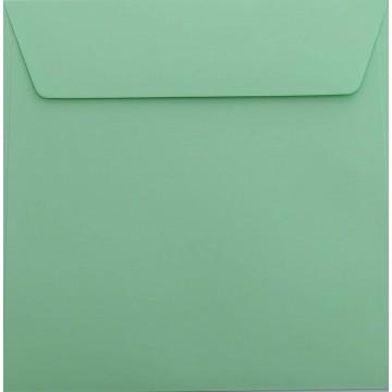 25 / Quadratisch/Briefumschläge / 18 x 18 cm / 180 x 180 mm Minze Verschluss: Kuverts mit Haftstreifen/Grammatur: 120 g/m²