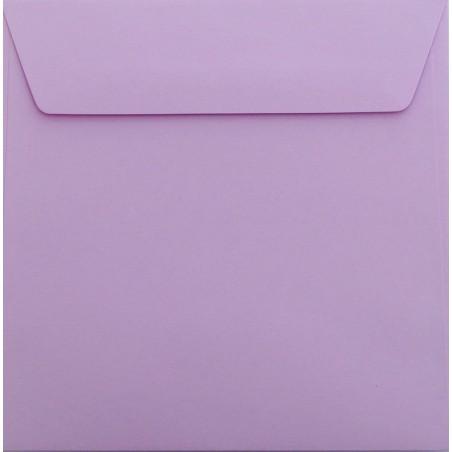 25 / Quadratisch/Briefumschläge / 18 x 18 cm / 180 x 180 mm Flieder Verschluss: Kuverts mit Haftstreifen/Grammatur: 120 g/m²