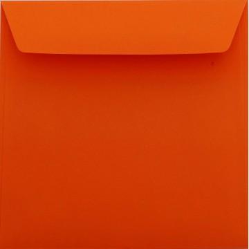 25 / Quadratisch/Briefumschläge / 18 x 18 cm / 180 x 180 mm Mandarine Verschluss: Kuverts mit Haftstreifen/Grammatur: 120 g/m²