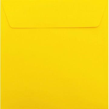 25 / Quadratisch/Briefumschläge/18 x 18 cm / 180 x 180 mm Intensiv Gelb Verschluss: Kuverts mit Haftstreifen/Grammatur: 120 g/m²