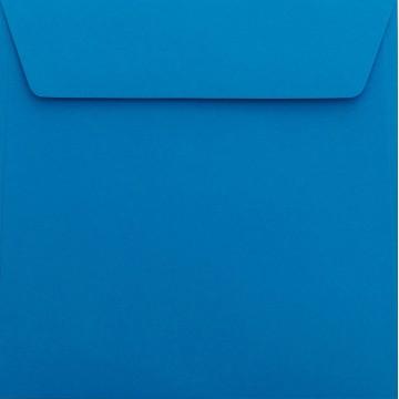 25 / Quadratisch/Briefumschläge / 17 x 17 cm / 170 x 170 mm/Ozean Blau/Verschluss: Kuverts mit Haftstreifen/Grammatur: 120 g/m²