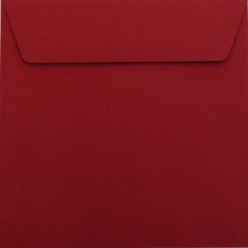 25 / Quadratisch/Briefumschläge / 17 x 17 cm / 170 x 170 mm Bordeaux : Kuverts mit Haftstreifen/Grammatur: 120 g/m²