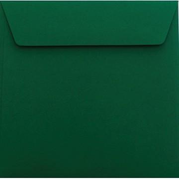 25 / Quadratisch/Briefumschläge / 17 x 17 cm / 170 x 170 mm Tannen Grün : Kuverts mit Haftstreifen/Grammatur: 120 g/m²