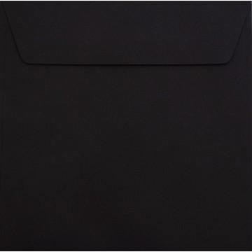 25 / Quadratisch/Briefumschläge / 17 x 17 cm / 170 x 170 mm Schwarz : Kuverts mit Haftstreifen/Grammatur: 120 g/m²