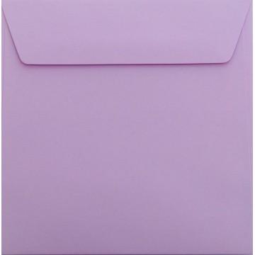 25 / Quadratisch/Briefumschläge / 17 x 17 cm / 170 x 170 mm Flieder: Kuverts mit Haftstreifen/Grammatur: 120 g/m²