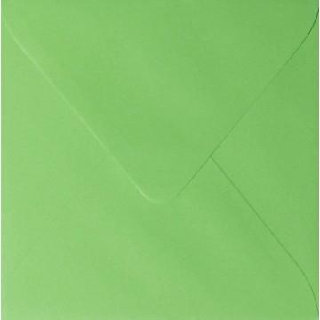 25 Briefumschläge 16 x 16 cm 160 x 160 mm Gras Grün Verschluss: feuchtklebend Grammatur: 120 g/m²