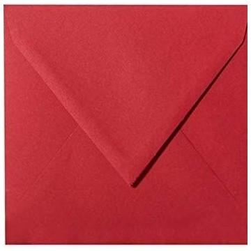 25 Briefumschläge 15,5 x 15,5 cm 155 x 155 mm Rosen Rot Verschluss: feuchtklebend Grammatur: 120 g/m²