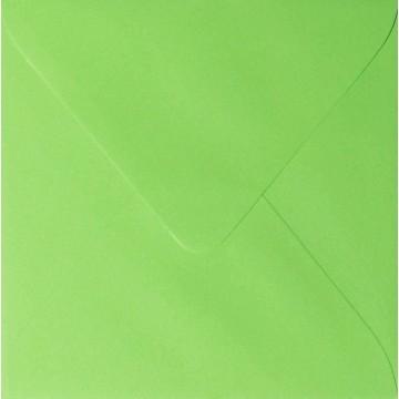 25 Briefumschläge 15,5 x 15,5 cm 155 x 155 mm Hell Grün  Verschluss: feuchtklebend Grammatur: 120 g/m²