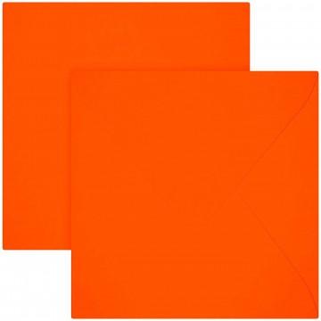 25 Briefumschläge 15 x 15 cm 150 x 150 mm Neon Orange Verschluss: feuchtklebend Grammatur: 120 g/m²