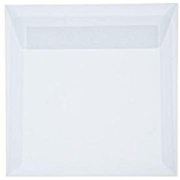 25 Briefumschläge Transparente/Weiß 15,5 x 15,5 cm 155 x 155 mm Kuverts mit Haftstreifen  Grammatur: 100 g/m²
