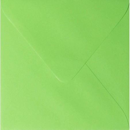 25 Briefumschläge 14 x 14 cm 140 x 140 mm Hell Grün Verschluss: feuchtklebend Grammatur: 120 g/m²