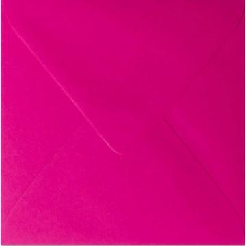 25 Briefumschläge 14 x 14 cm 140 x 140 mm Pink Verschluss: feuchtklebend Grammatur: 120 g/m²