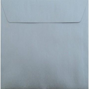 25 / Quadratisch/Briefumschläge / 17 x 17 cm / 170 x 170 mm Silber Metallic : Kuverts mit Haftstreifen/Grammatur: 120 g/m²