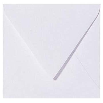 25 Briefumschläge 13 x 13 cm 130 x 130 mm Weiß Verschluss: feuchtklebend Grammatur: 100 g/m²