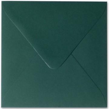 25 Briefumschläge 13 x 13 cm 130 x 130 mm Tannen Grün Verschluss: feuchtklebend Grammatur: 120 g/m²