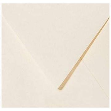 25 Briefumschläge 12,5 x 12,5 cm 125 x 125 mm Zart Creme Verschluss: feuchtklebend Grammatur: 120 g/m²