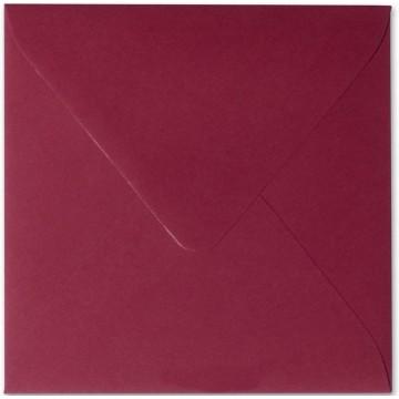 25 Briefumschläge 11 x 11 cm 110 x 110 mm Bordeaux Verschluss: feuchtklebend Grammatur: 120 g/m²