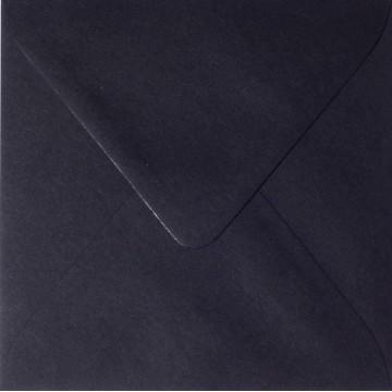 25 Briefumschläge 11 x 11 cm 110 x 110 mm Schwarz Verschluss: feuchtklebend Grammatur: 120 g/m²