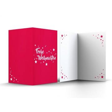 """Wunderschöne Weihnachtskarten """"Frohe Weihnachten mit Sternen"""", A6,"""