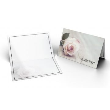 """Trauerkarten """"In Stiller Trauer mit Rose"""", A6"""