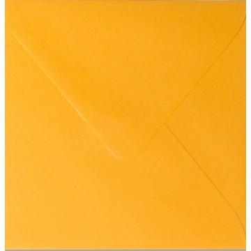 25 Briefumschläge 10 x 10 cm 100 x 100 mm Orange  Verschluss: feuchtklebend Grammatur: 120 g/m²