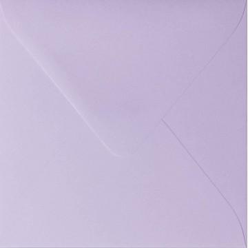25 Briefumschläge 10 x 10 cm 100 x 100 mm Flieder  Verschluss: feuchtklebend Grammatur: 120 g/m²