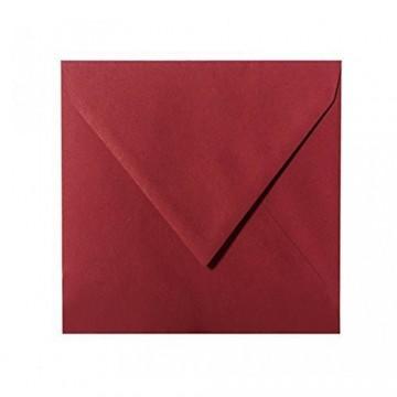25 / Quadratisch/Briefumschläge / 17 x 17 cm / 170 x 170 mm/Bordeaux/Verschluss: Kuverts feuchtklebend/Grammatur: 120 g/m²