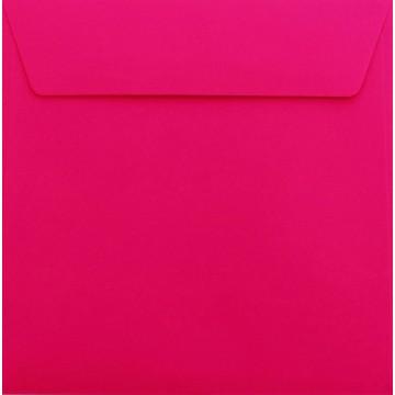 25 Briefumschläge 18,5 x 18,5 cm 185 x 185 mm Pink Verschluss: mit Haftstreifen Grammatur: 120 g/m²