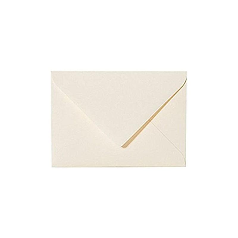 25 Briefumschläge Mini geeignet für Visitenkarten Zart Creme 6 x 9 cm Verschluss-Technik: feuchtklebend, Grammatur 120 g/m²