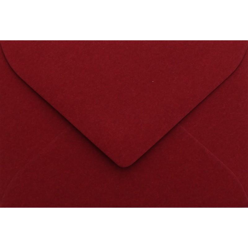 25 Briefumschläge Mini geeignet für Visitenkarten  6 x 9 cm Bordeaux Verschluss-Technik: feuchtklebend, Grammatur 120 g/m²