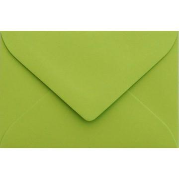 25 Briefumschläge Mini geeignet für Visitenkarten  6 x 9 cm Hell Grün Verschluss-Technik: feuchtklebend, Grammatur 120 g/m²