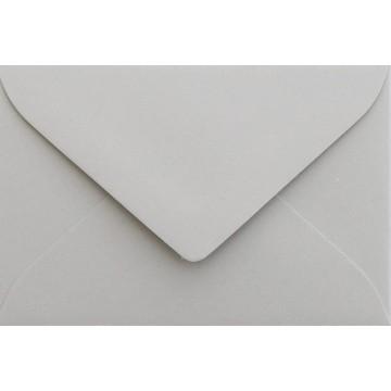 25 Briefumschläge Mini geeignet für Visitenkarten  6 x 9 cm Hell Grau Verschluss-Technik: feuchtklebend, Grammatur 120 g/m²