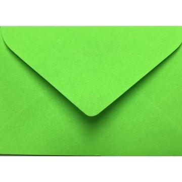 25 Briefumschläge Mini geeignet für Visitenkarten  6 x 9 cm Neon Grün Verschluss: feuchtklebend, Grammatur 100 g/m²
