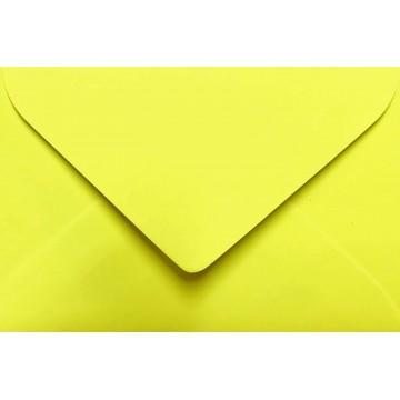 25 Briefumschläge Mini geeignet für Visitenkarten  6 x 9 cm Neon Gelb Verschluss: feuchtklebend, Grammatur 100 g/m²
