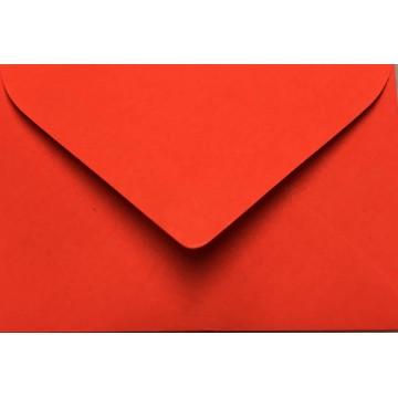 25 Briefumschläge Mini geeignet für Visitenkarten  6 x 9 cm Neon Rot Verschluss: feuchtklebend, Grammatur 100 g/m²