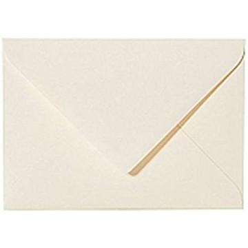 25 Mini Briefumschläge  Zart Creme 5,2  x 7,1 cm Verschluss-Technik: feuchtklebend, Grammatur 120 g/m²