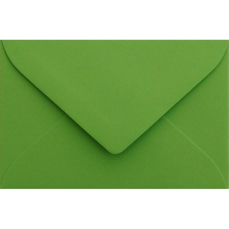 25 Mini Briefumschläge Gras Grün 5,2  x 7,1 cm Verschluss-Technik: feuchtklebend, Grammatur 120 g/m²