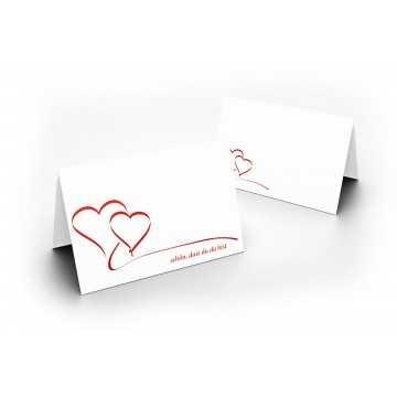 Tischkarten (Herzen) UV-Lack glänzend