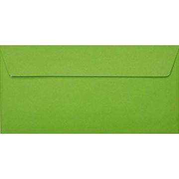25 DIN lang Briefumschläge Zart Creme Kuvert 11 x 22 cm mit Haftstreifen, Grammatur 120 g/m²