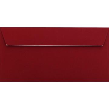 25 DIN lang Briefumschläge Bordeaux Kuvert 11 x 22 cm mit Haftstreifen, Grammatur 120 g/m²