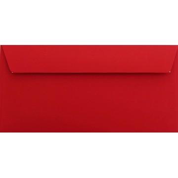 25 DIN lang Briefumschläge Rosen Rot Kuvert 11 x 22 cm mit Haftstreifen, Grammatur 120 g/m²