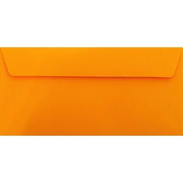 25 DIN lang Briefumschläge Orange Kuvert 11 x 22 cm mit Haftstreifen, Grammatur 120 g/m²