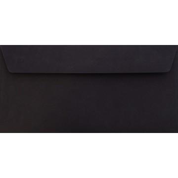 25 DIN lang Briefumschläge Schwarz Kuvert 11 x 22 cm mit Haftstreifen, Grammatur 120 g/m²
