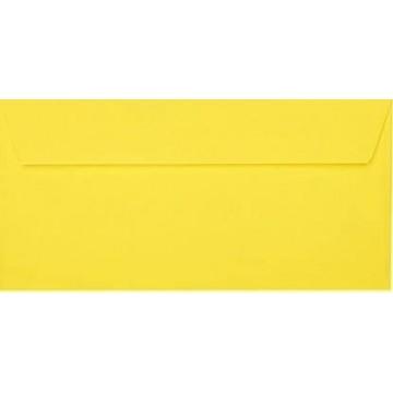 25 DIN lang Briefumschläge Intensiv Gelb Kuvert 11 x 22 cm mit Haftstreifen, Grammatur 120 g/m²