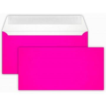 25 DIN lang Briefumschläge Neon Pink  Kuvert 11 x 22 cm mit Haftstreifen, Grammatur 100 g/m²